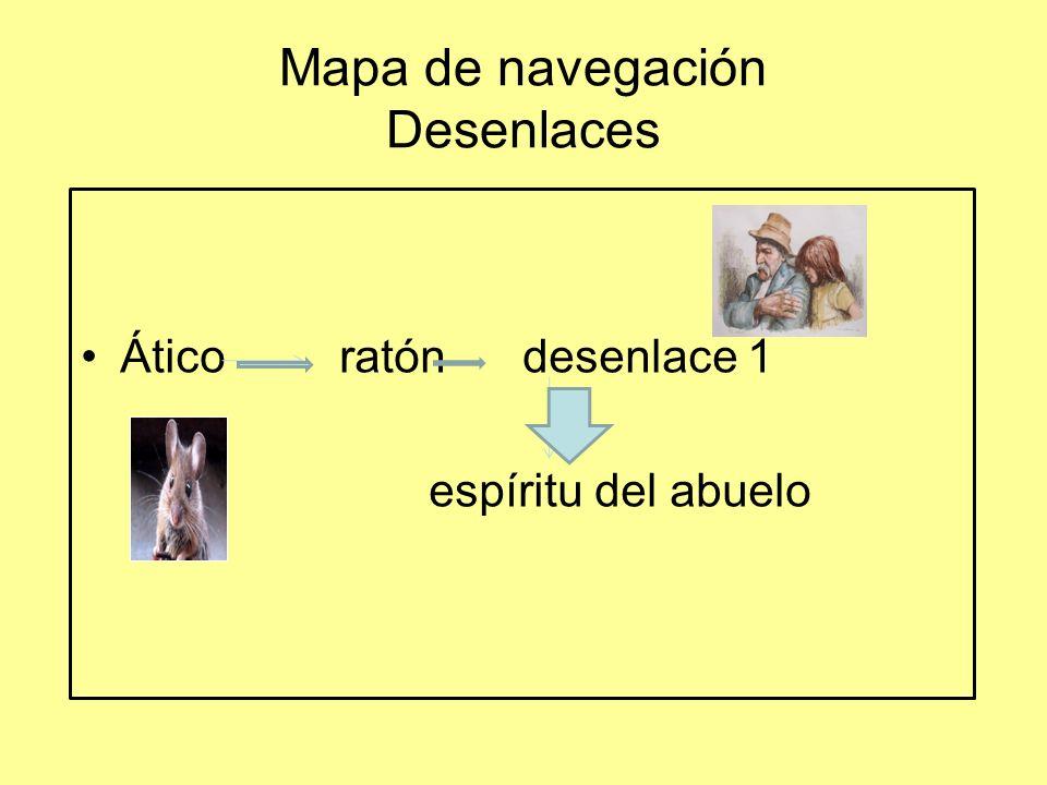 Mapa de navegación Desenlaces