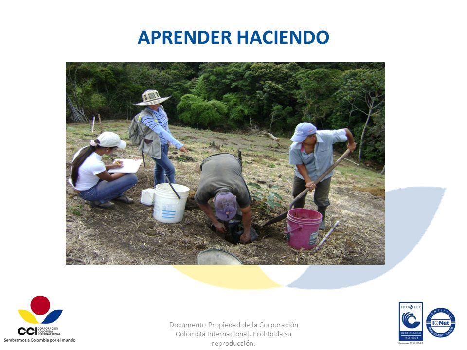 APRENDER HACIENDO Documento Propiedad de la Corporación Colombia Internacional.