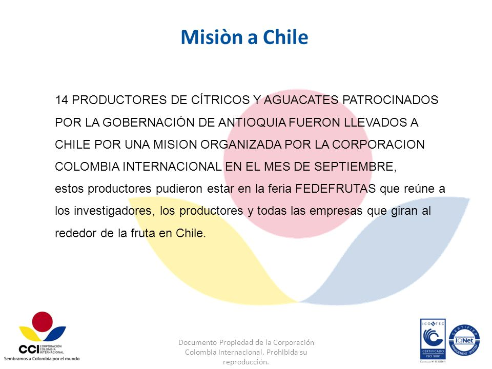 Misiòn a Chile
