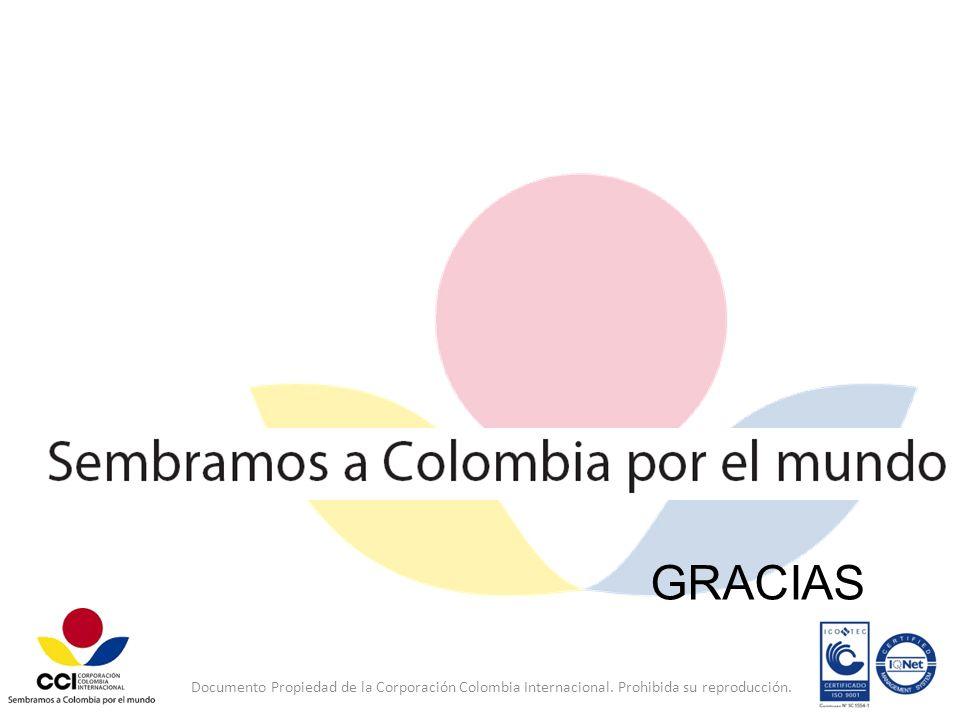 GRACIAS Documento Propiedad de la Corporación Colombia Internacional. Prohibida su reproducción.