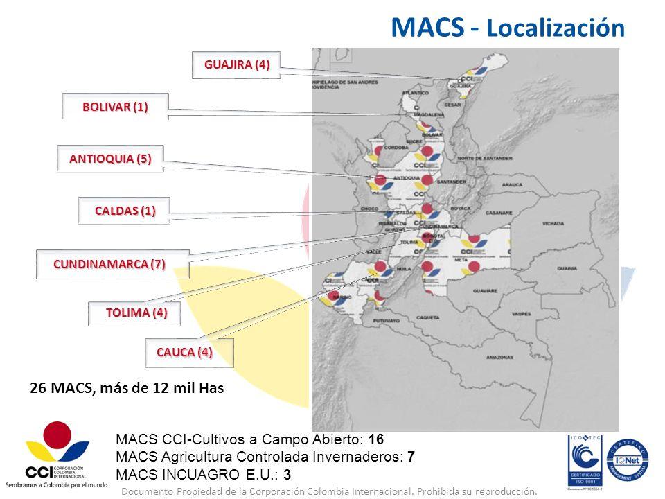 MACS - Localización 26 MACS, más de 12 mil Has