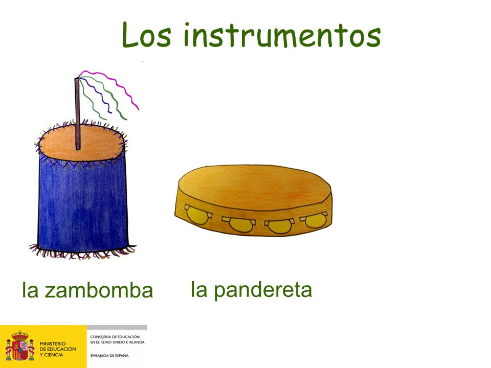 Los instrumentos la zambomba la pandereta