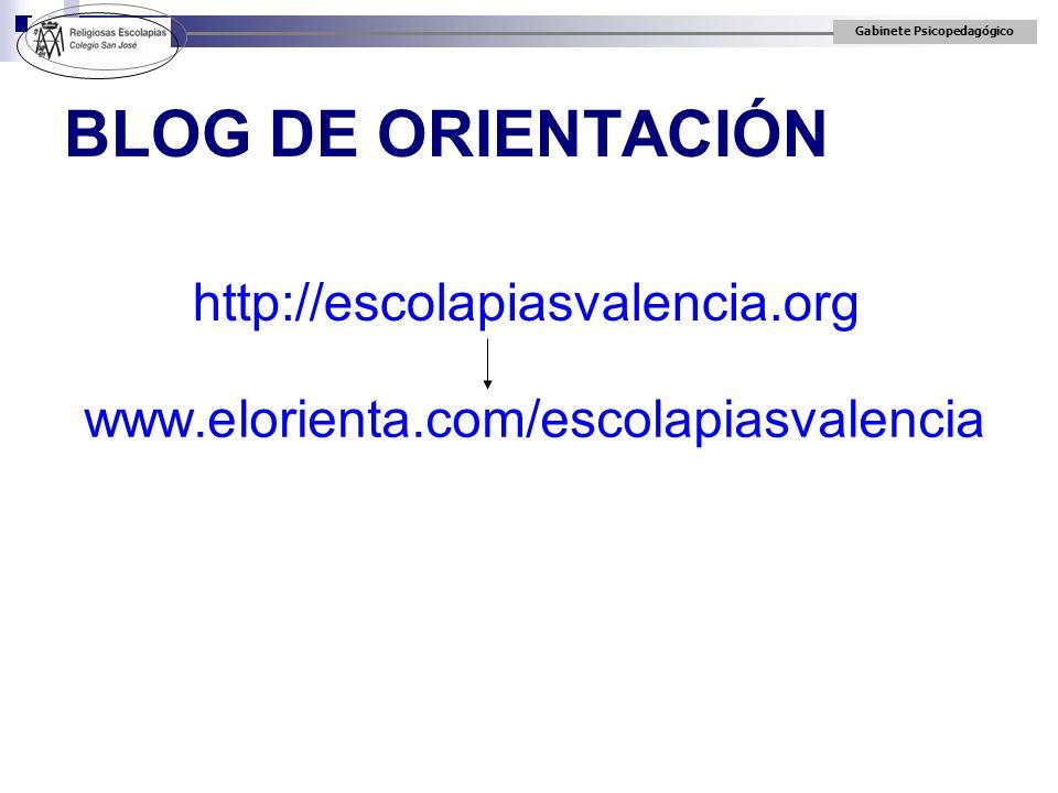 BLOG DE ORIENTACIÓN http://escolapiasvalencia.org