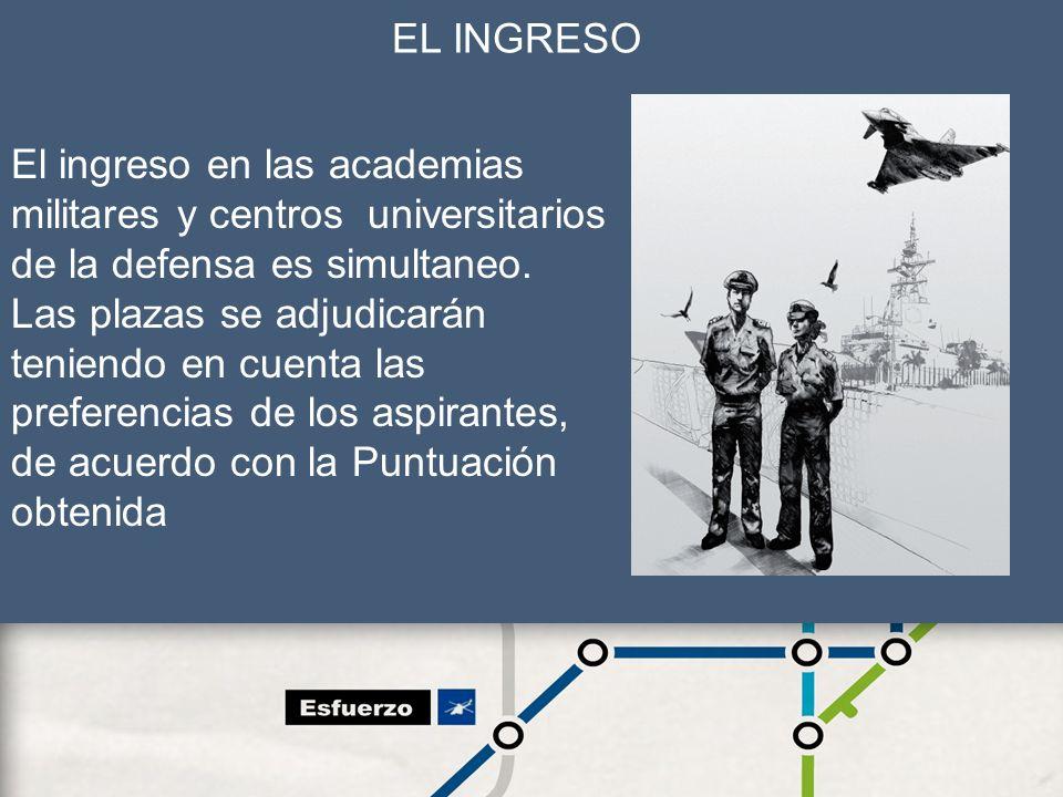 El ingreso en las academias militares y centros universitarios