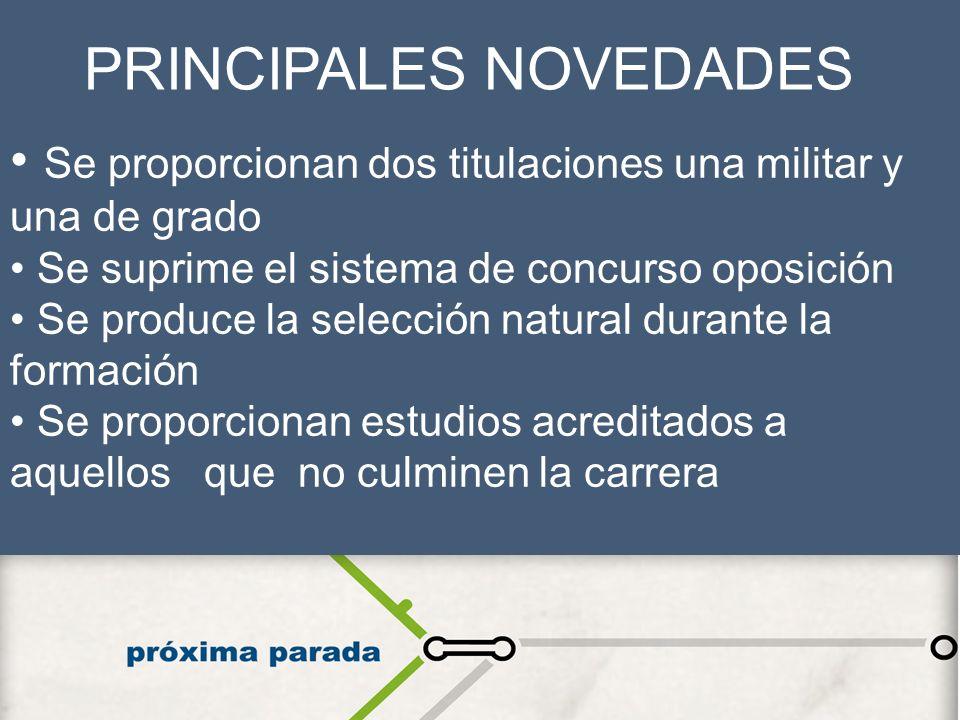 PRINCIPALES NOVEDADES