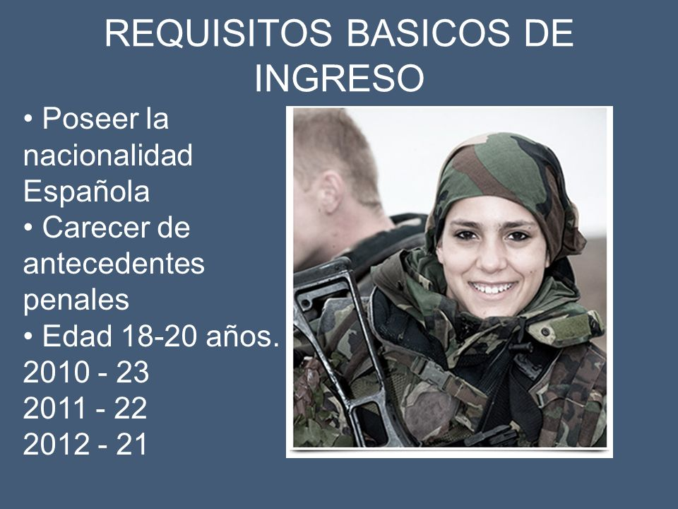 REQUISITOS BASICOS DE INGRESO