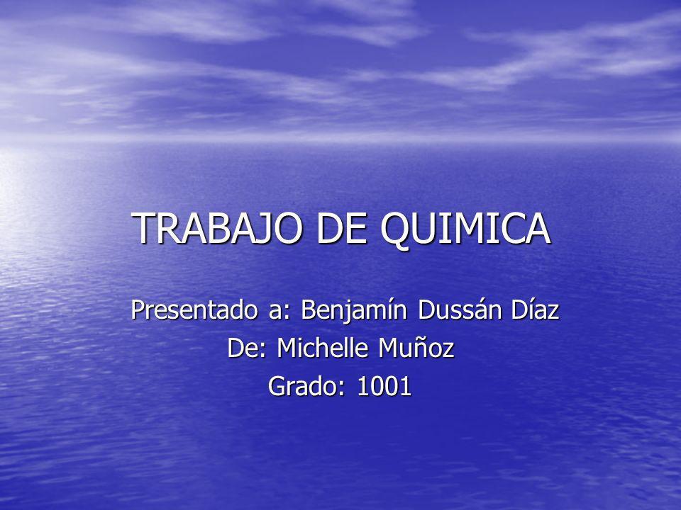 Presentado a: Benjamín Dussán Díaz De: Michelle Muñoz Grado: 1001