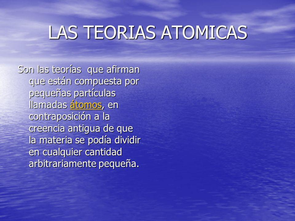 LAS TEORIAS ATOMICAS