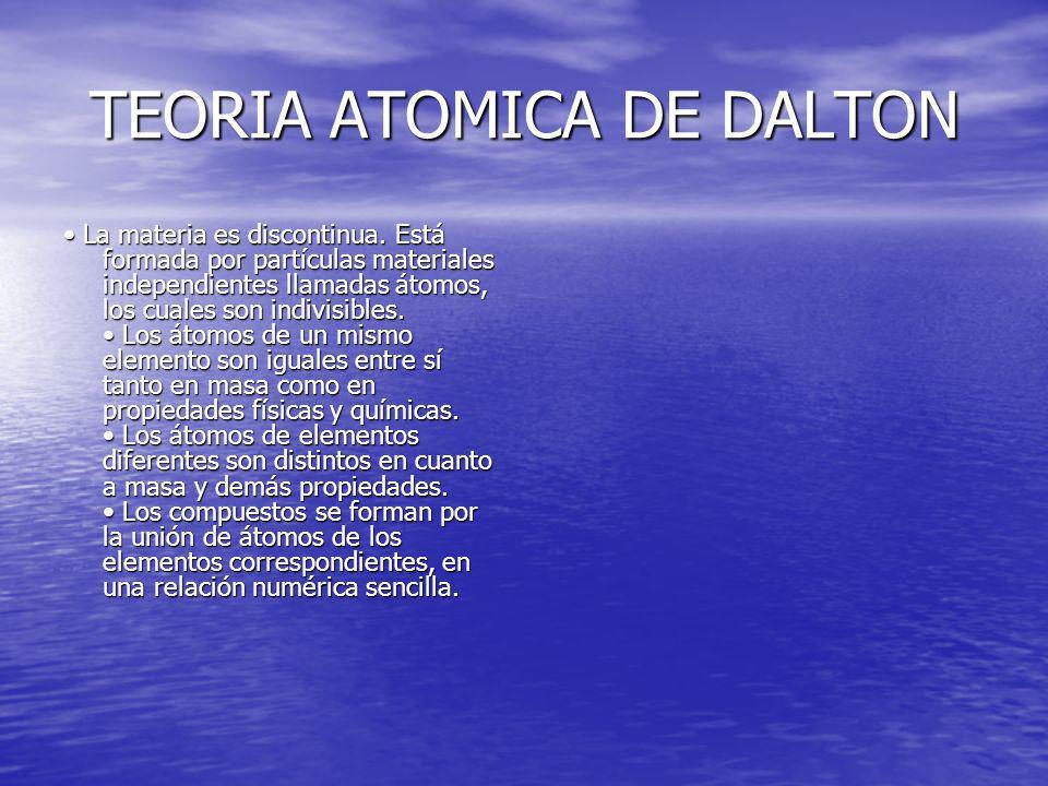 TEORIA ATOMICA DE DALTON