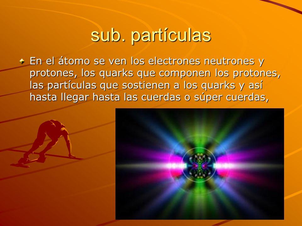sub. partículas