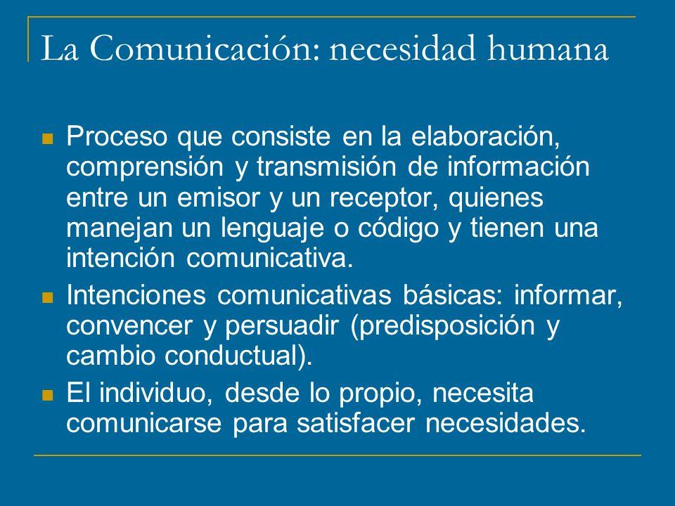 La Comunicación: necesidad humana