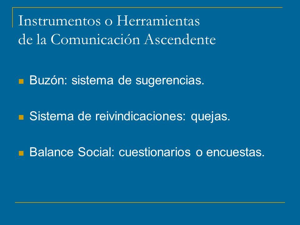 Instrumentos o Herramientas de la Comunicación Ascendente