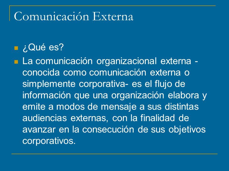 Comunicación Externa ¿Qué es