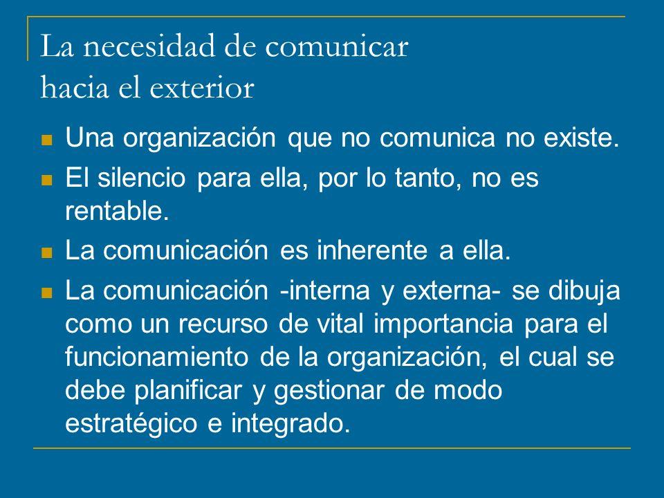 La necesidad de comunicar hacia el exterior