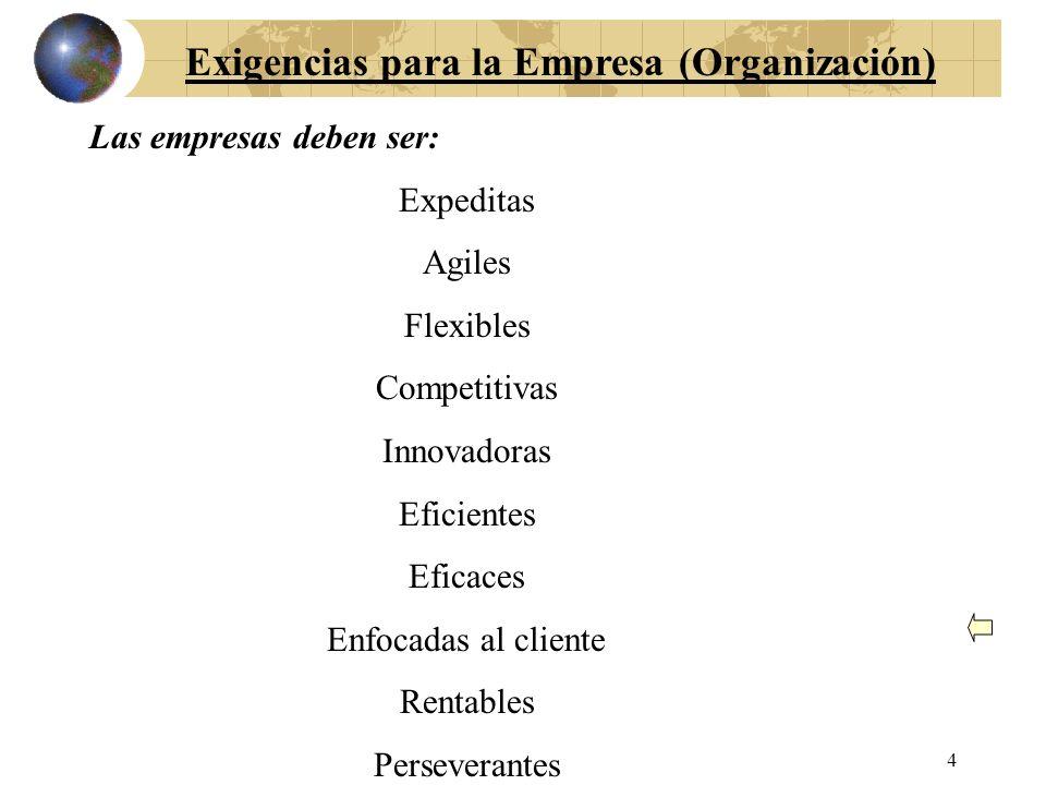 Exigencias para la Empresa (Organización)