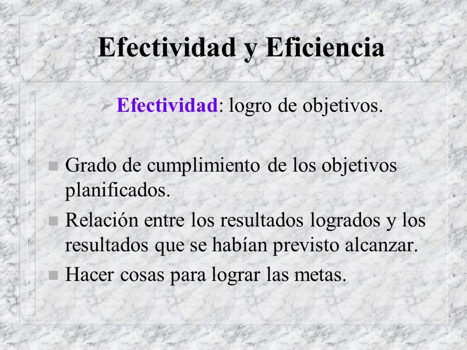 Efectividad y Eficiencia