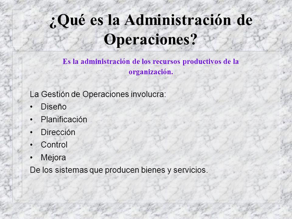 ¿Qué es la Administración de Operaciones