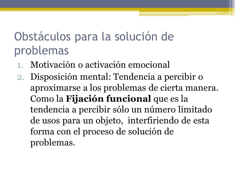 Obstáculos para la solución de problemas