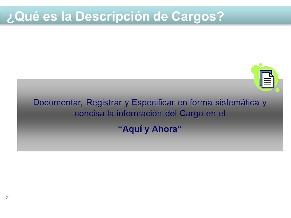 ¿Qué es la Descripción de Cargos