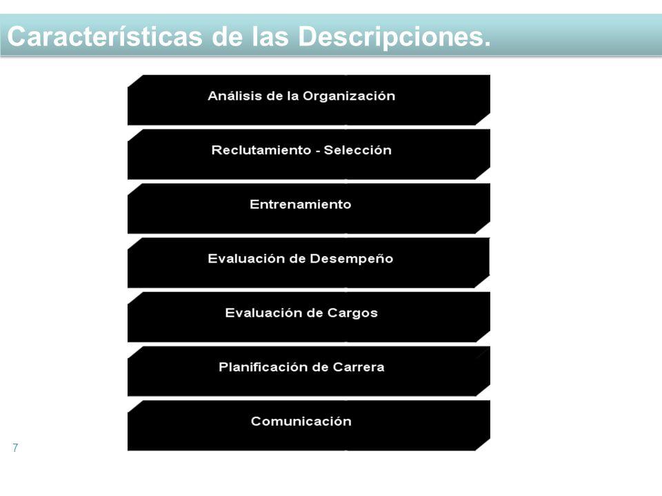 Características de las Descripciones.