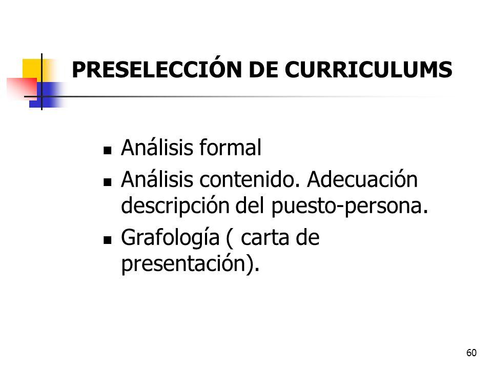 PRESELECCIÓN DE CURRICULUMS