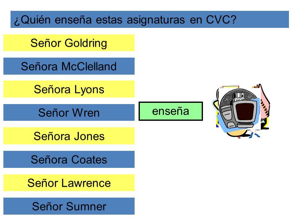 ¿Quién enseña estas asignaturas en CVC