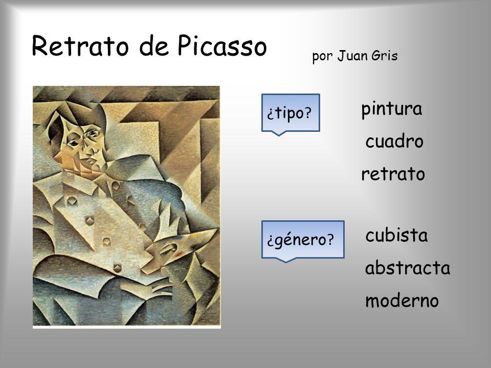 Retrato de Picasso pintura cuadro retrato cubista abstracta moderno