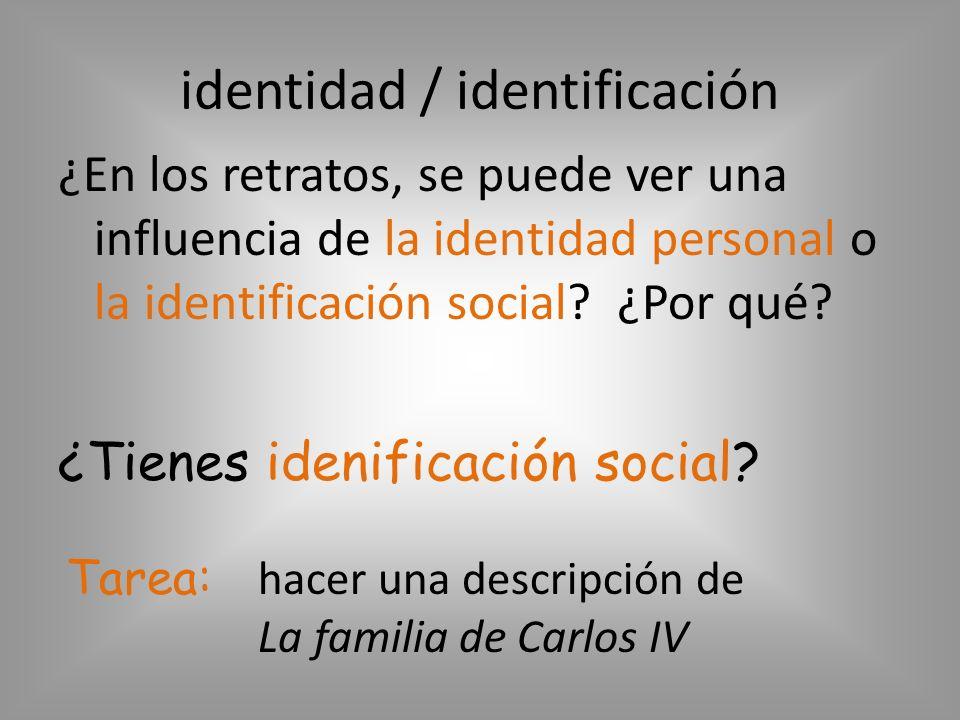 identidad / identificación
