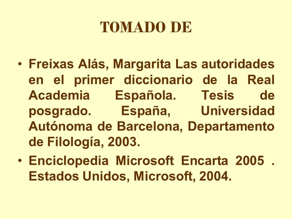 TOMADO DE