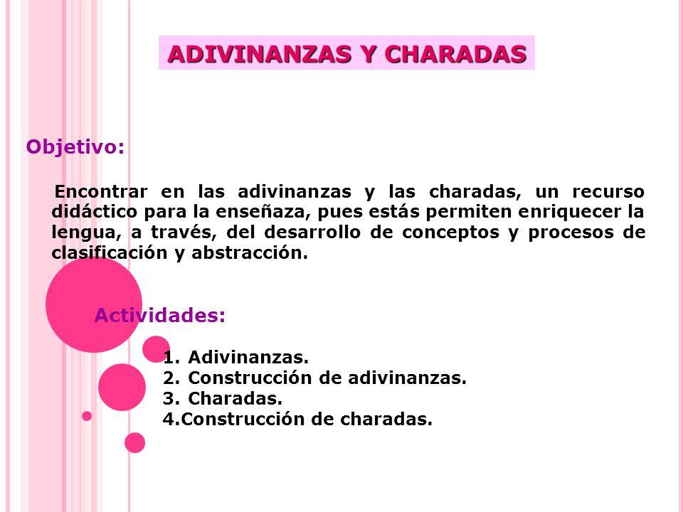 ADIVINANZAS Y CHARADAS