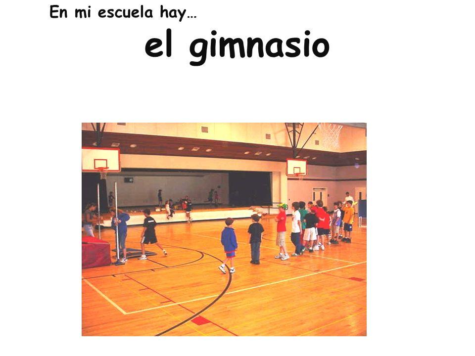En mi escuela hay… el gimnasio