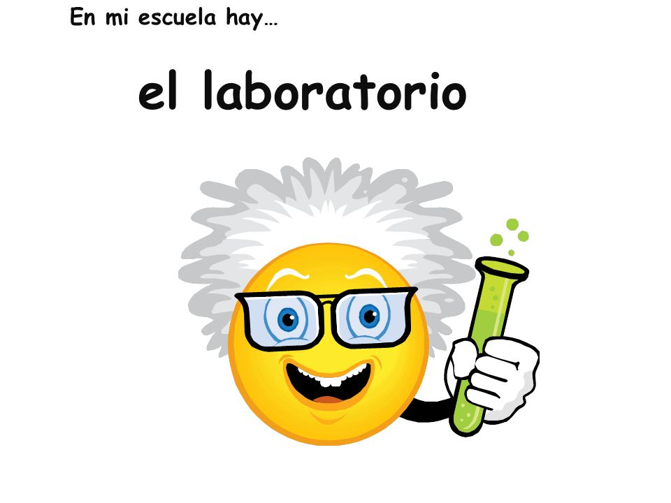 En mi escuela hay… el laboratorio