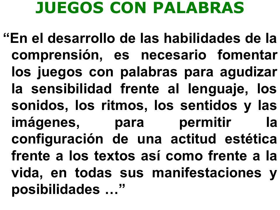 JUEGOS CON PALABRAS