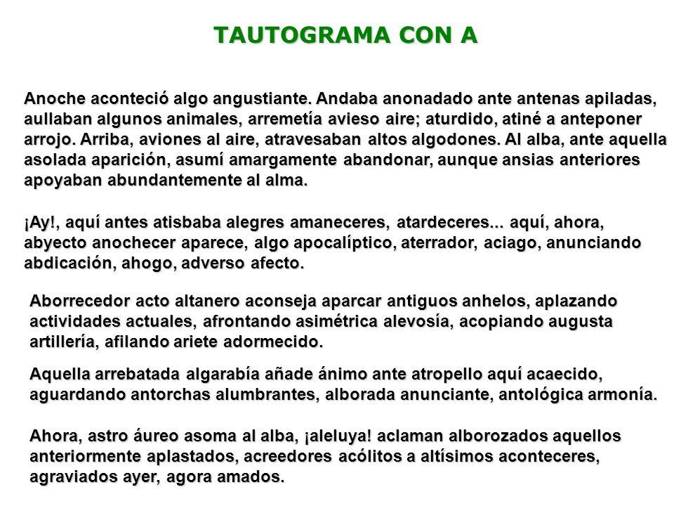 TAUTOGRAMA CON A