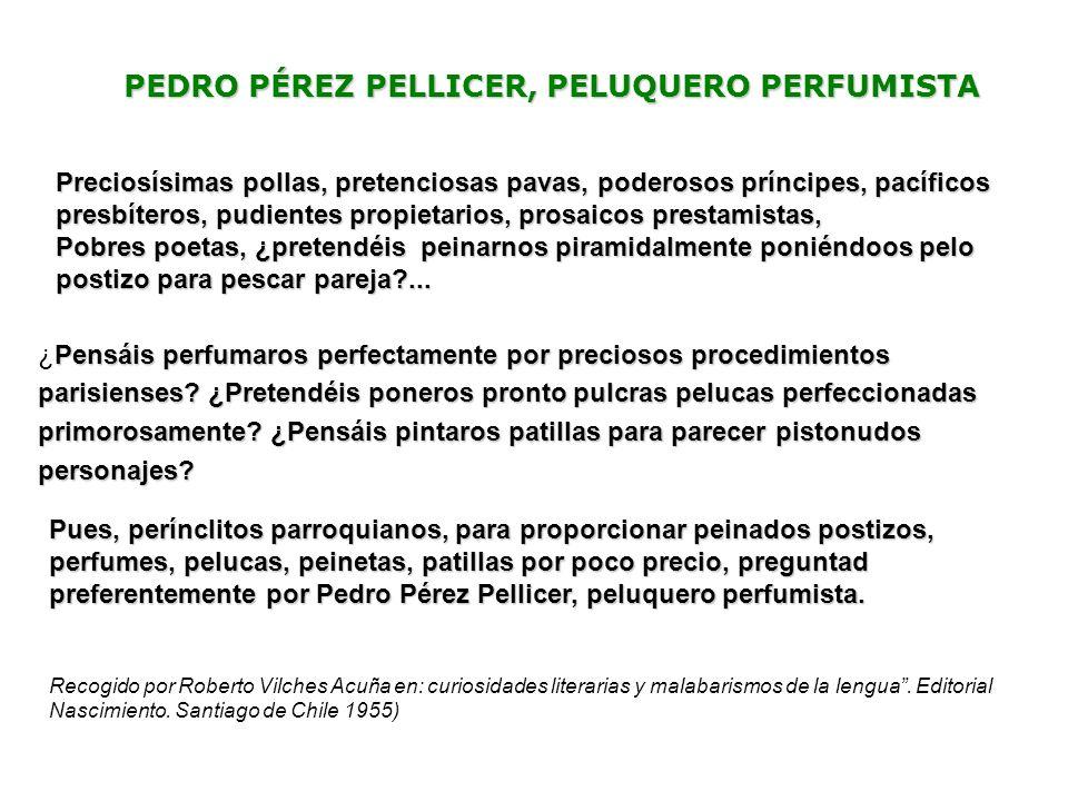 PEDRO PÉREZ PELLICER, PELUQUERO PERFUMISTA