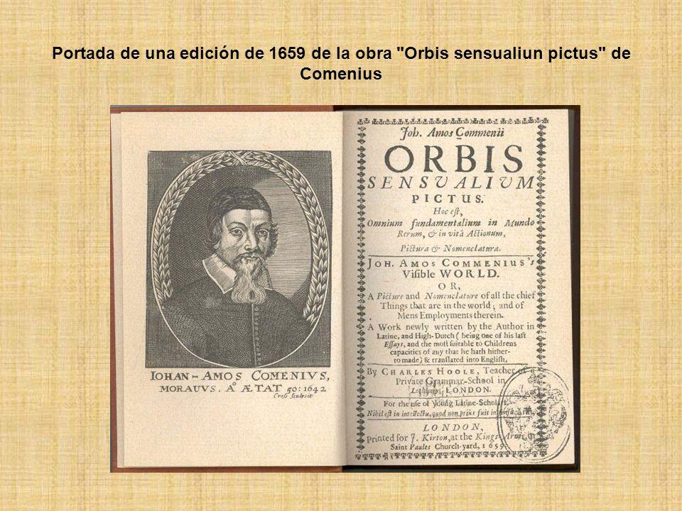 Portada de una edición de 1659 de la obra Orbis sensualiun pictus de Comenius