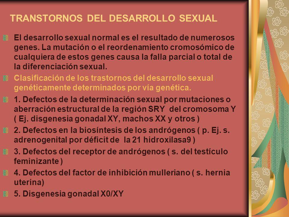TRANSTORNOS DEL DESARROLLO SEXUAL