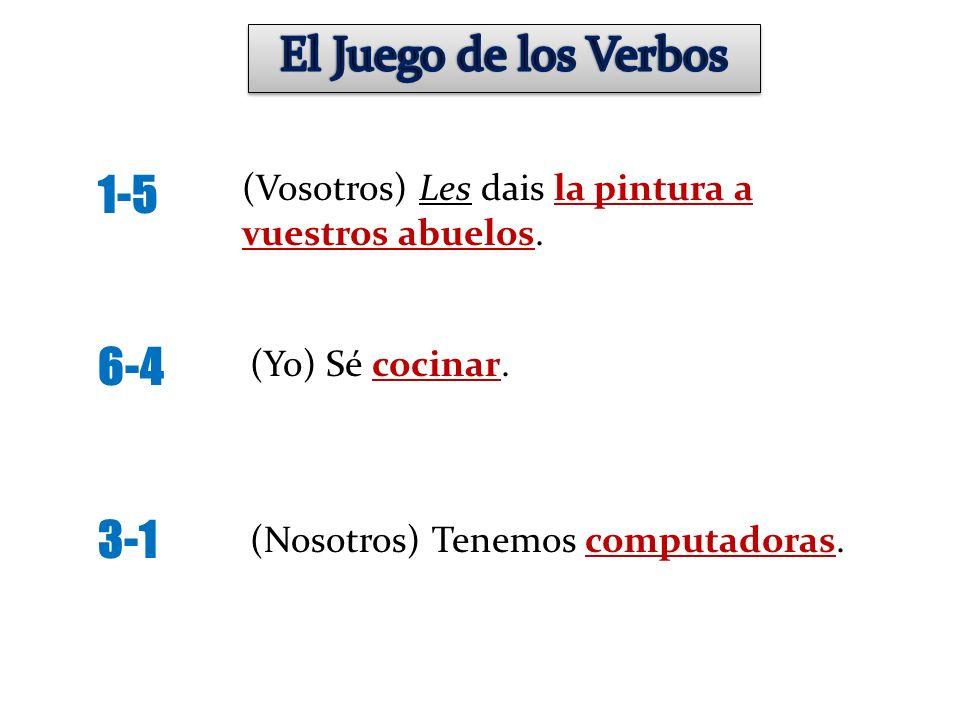 El Juego de los Verbos 1-5 6-4 3-1