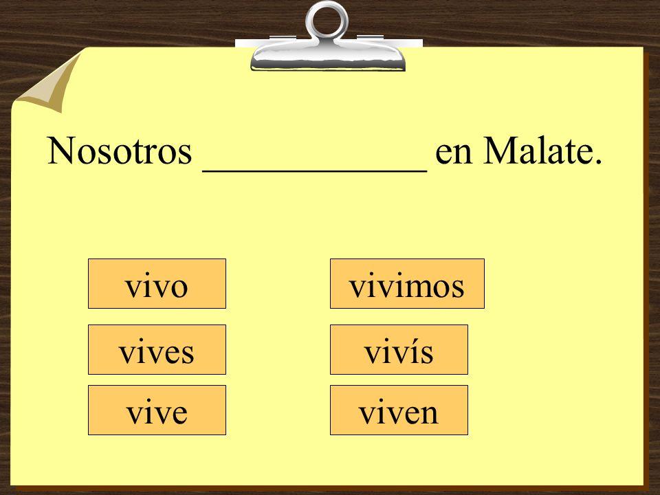 Nosotros ___________ en Malate.