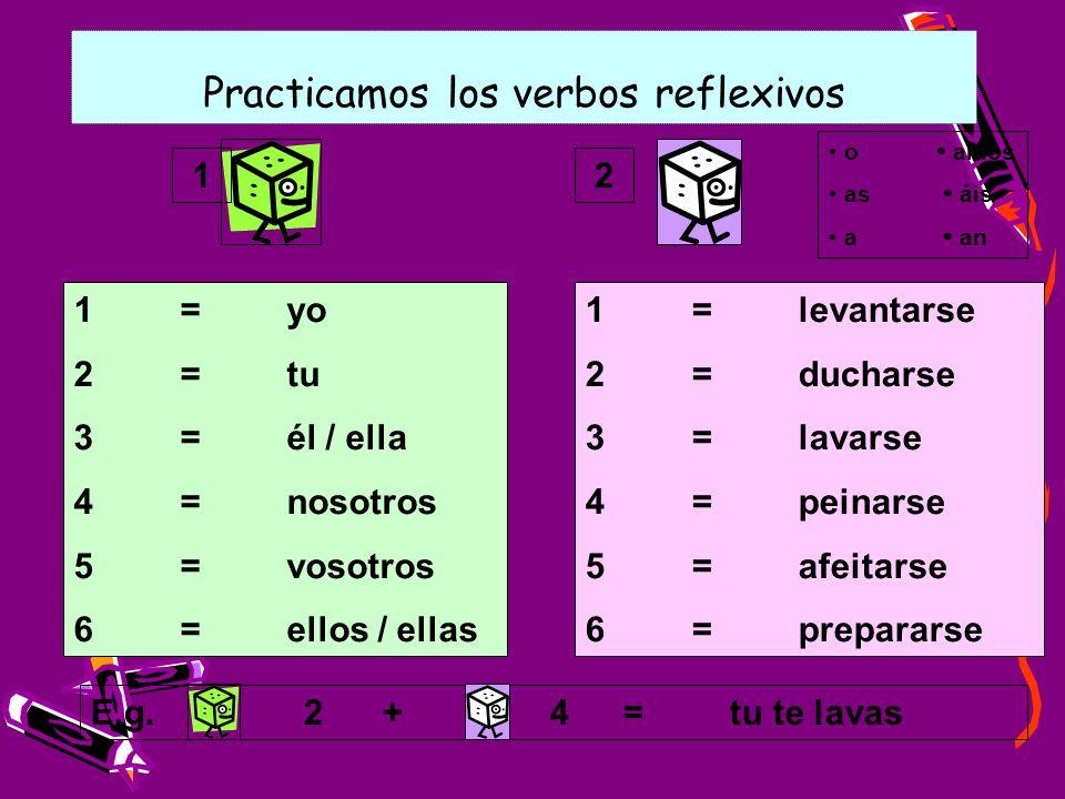 Practicamos los verbos reflexivos