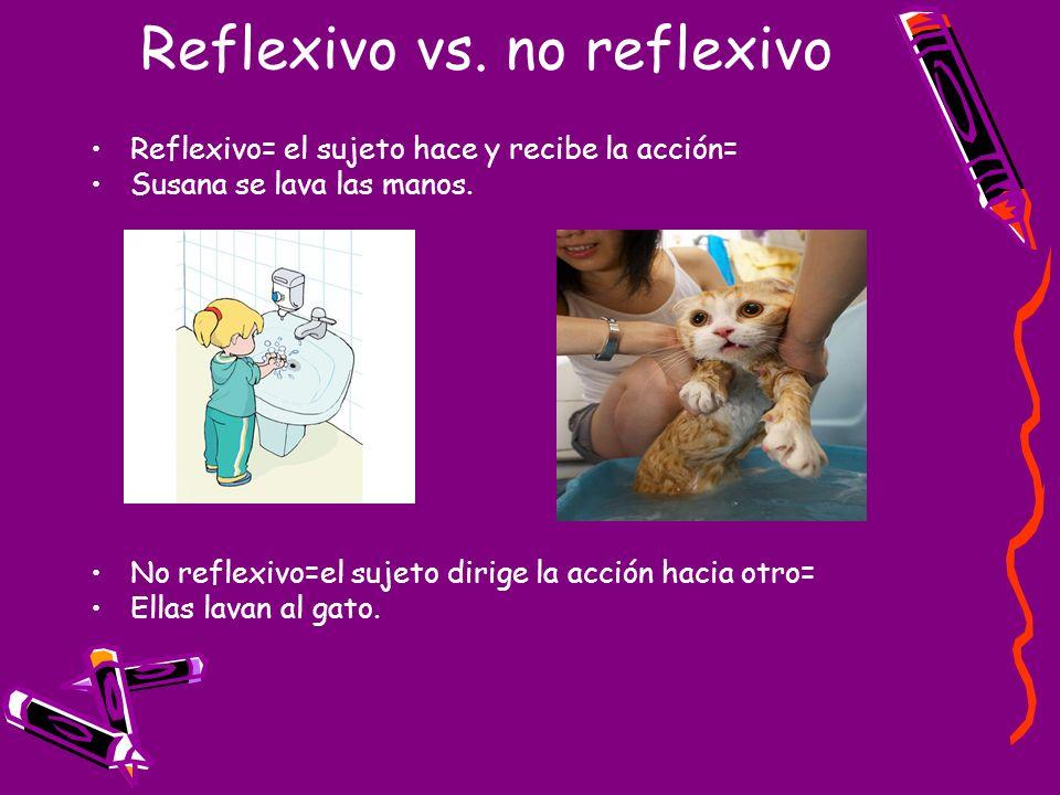 Reflexivo vs. no reflexivo