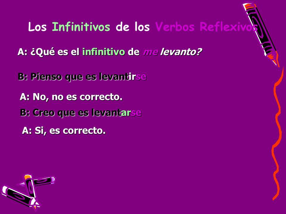 Los Infinitivos de los Verbos Reflexivos