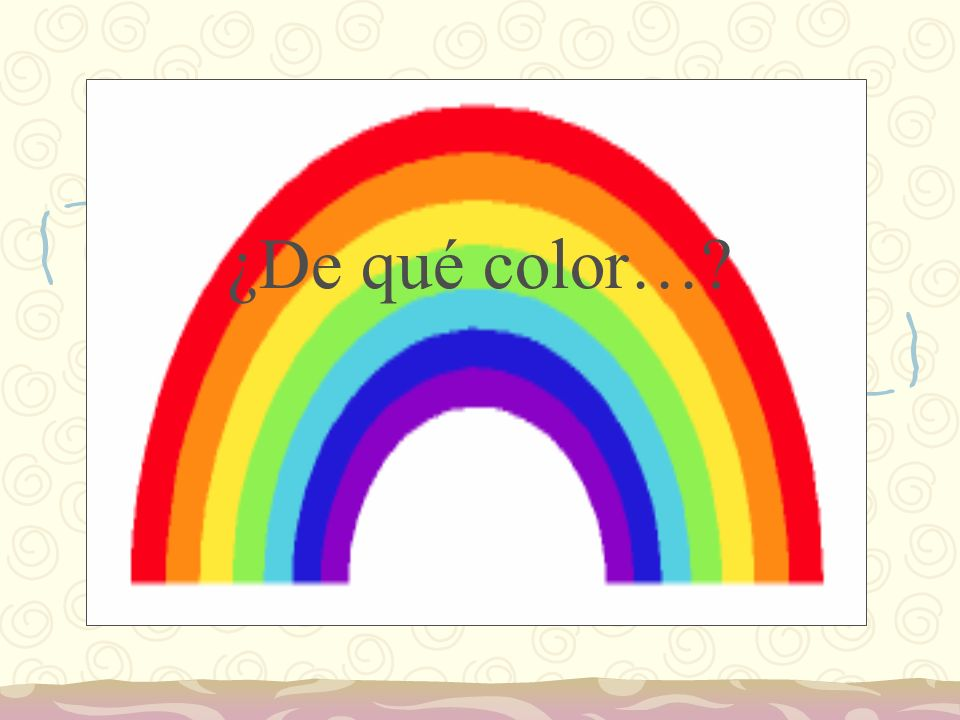 ¿De qué color…