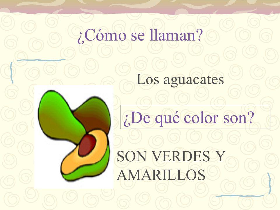¿Cómo se llaman ¿De qué color son Los aguacates