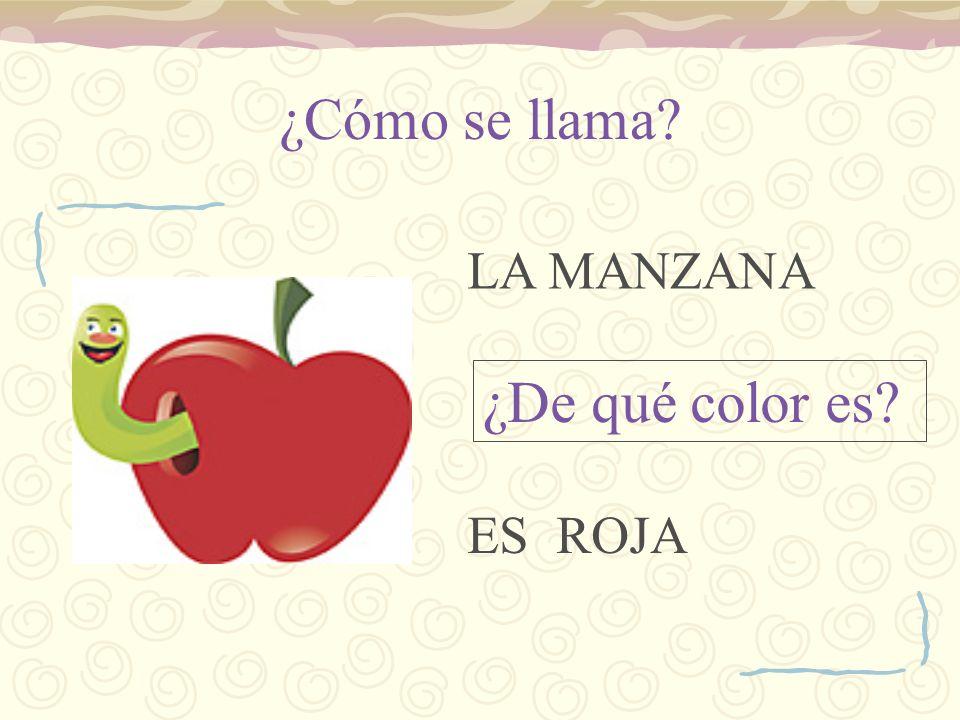 ¿Cómo se llama LA MANZANA ¿De qué color es ES ROJA