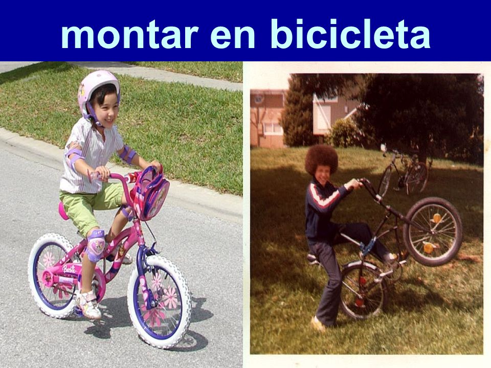 montar en bicicleta 61