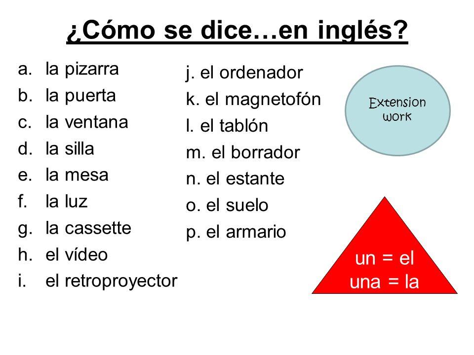 ¿Cómo se dice…en inglés
