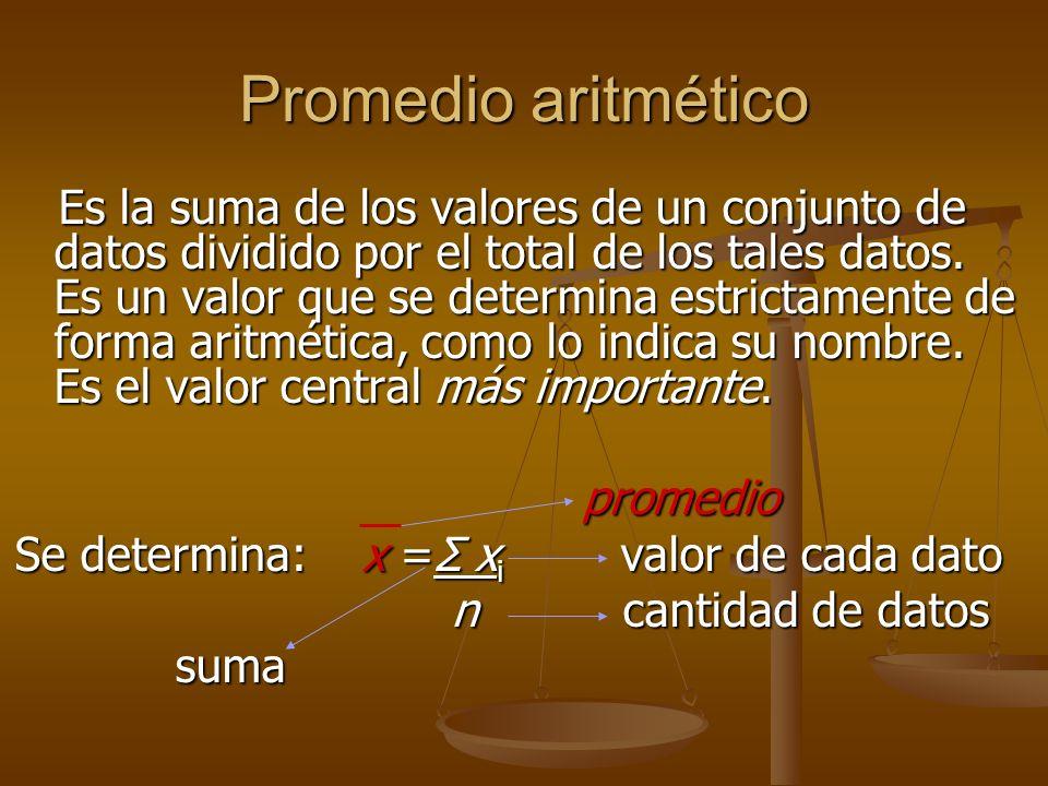 Promedio aritmético