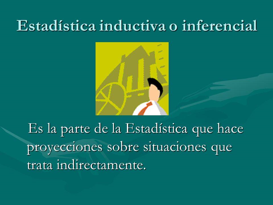 Estadística inductiva o inferencial