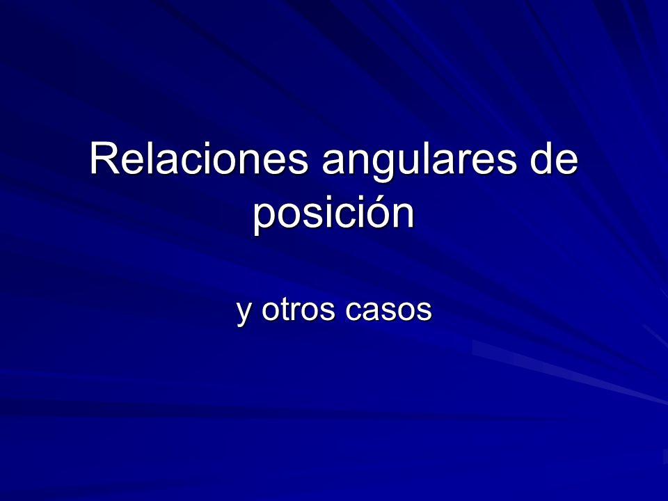 Relaciones angulares de posición